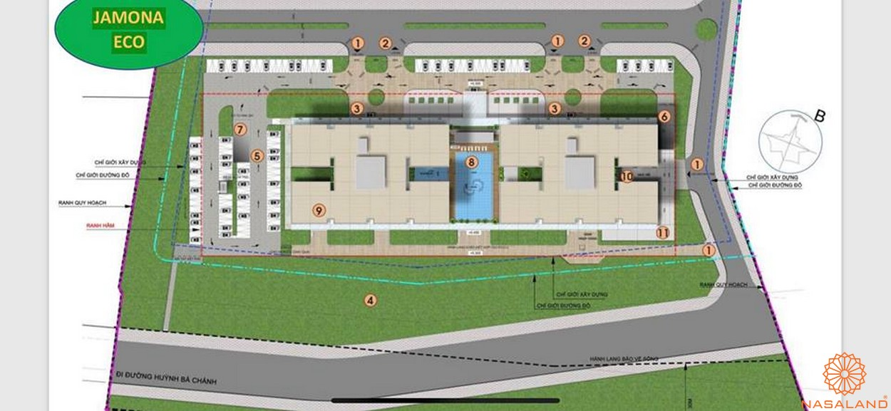 Mặt bằng tổng thể dự án căn hộ Jamona Eco quận 8