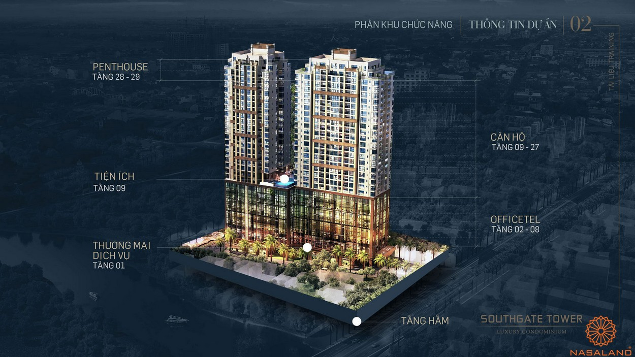 Mặt bằng tổng thể dự án căn hộ South Gate Tower quận 7