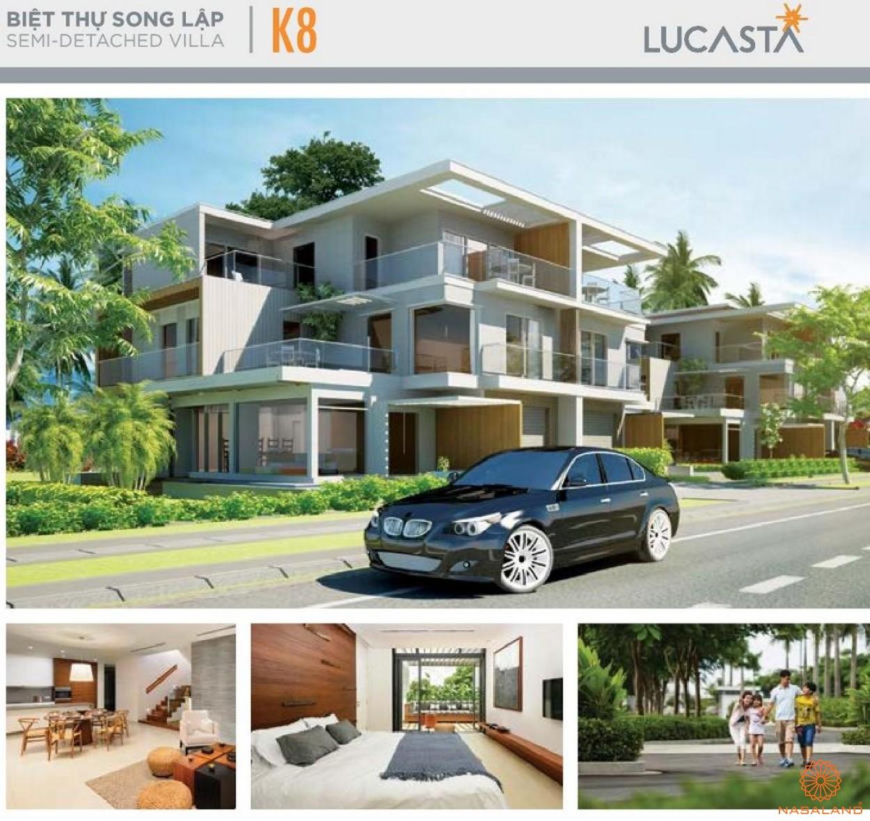 Nhà mẫu biệt thự song lập K8 tại dự án biệt thự Lucasta quận 9 tại dự án