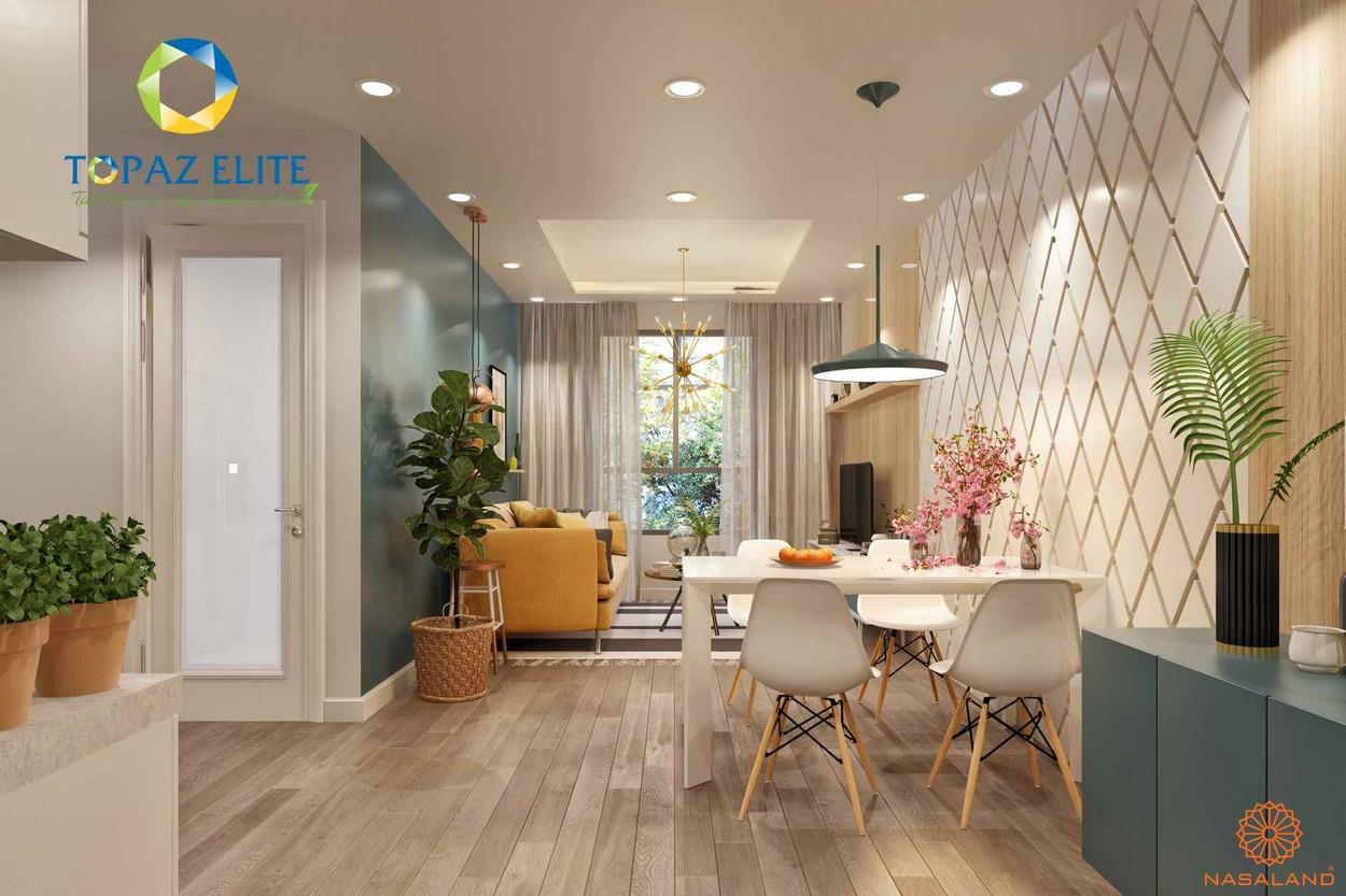 Nhà mẫu dự án căn hộ Topaz Elite quận 8