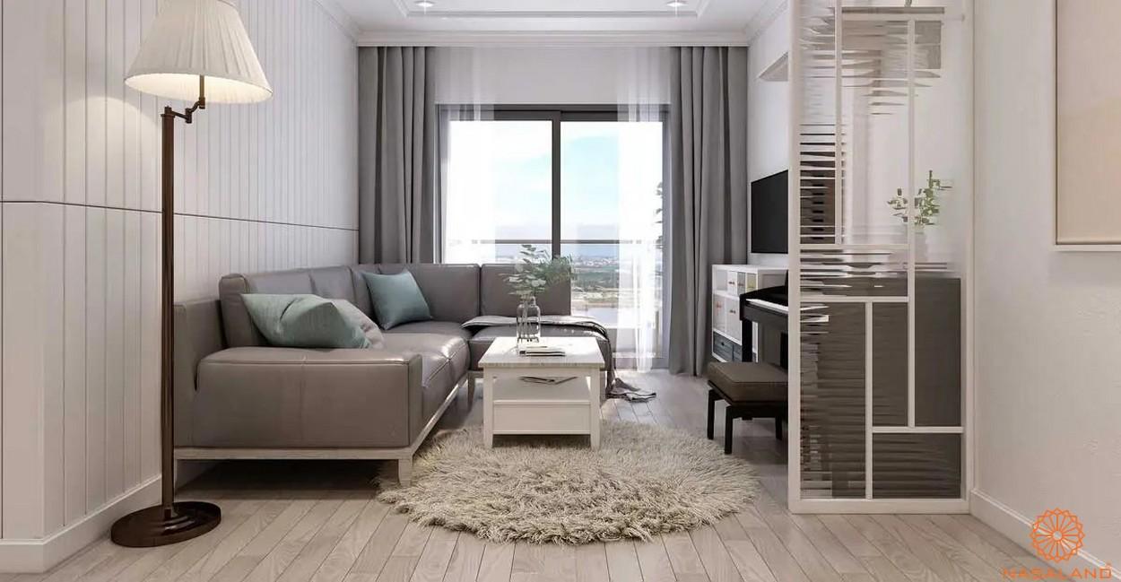 Nhà mẫu phòng khách tại căn hộ dự án The Peasuite 3 quận 7