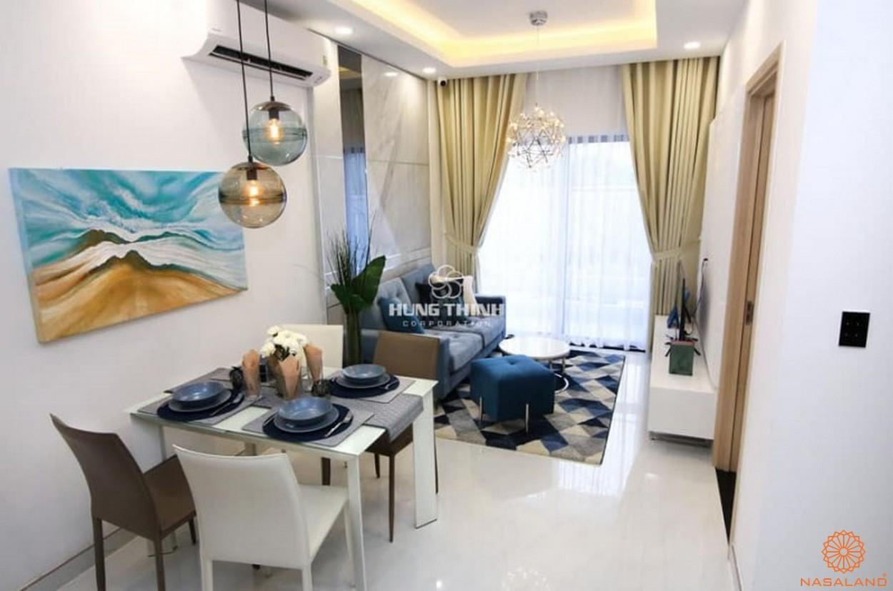 Nhà mẫu dự án căn hộ Universe Complex Bình Tân - Phòng khách