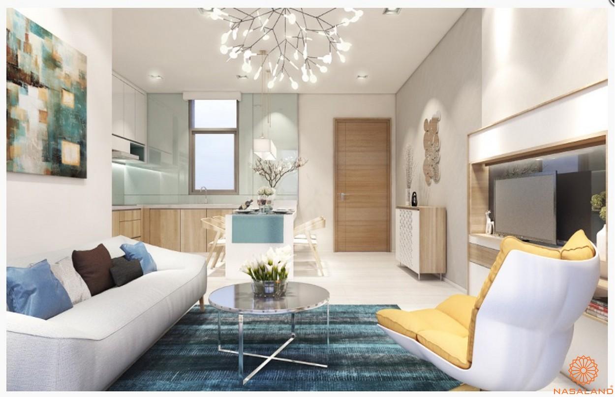 Nhà mẫu căn hộ chung cư Central Premium phòng khách