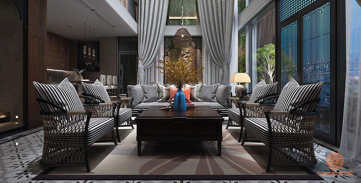 Nhà mẫu phòng khách tại dự án Sunshine Continental quận 10