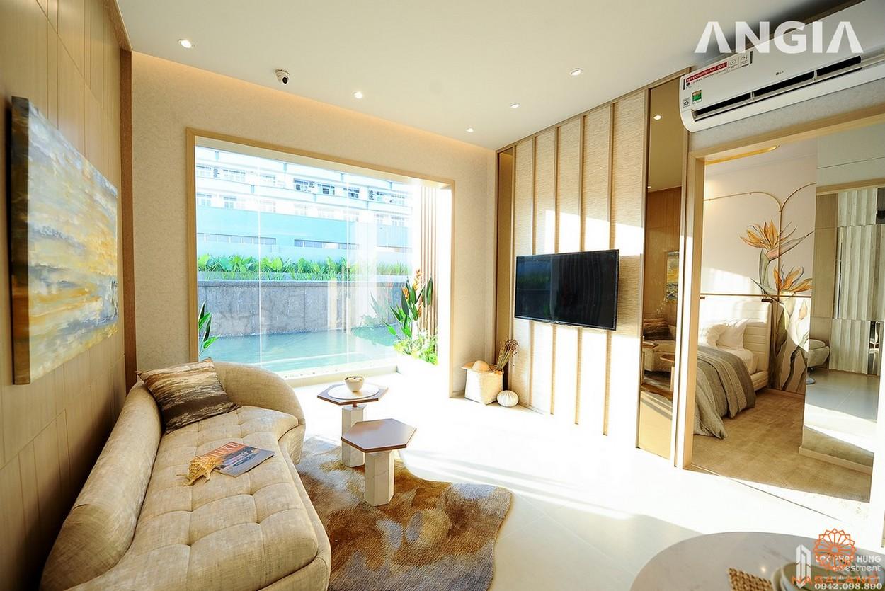 Nhà mẫu dự án căn hộ West Gate Bình Chánh phòng khách