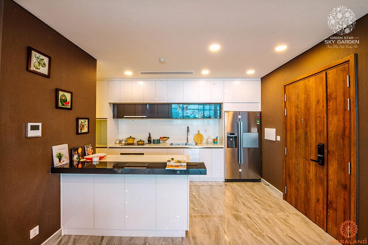Nội thất bếp dự án căn hộ Green Star Sky Garden Quận 7