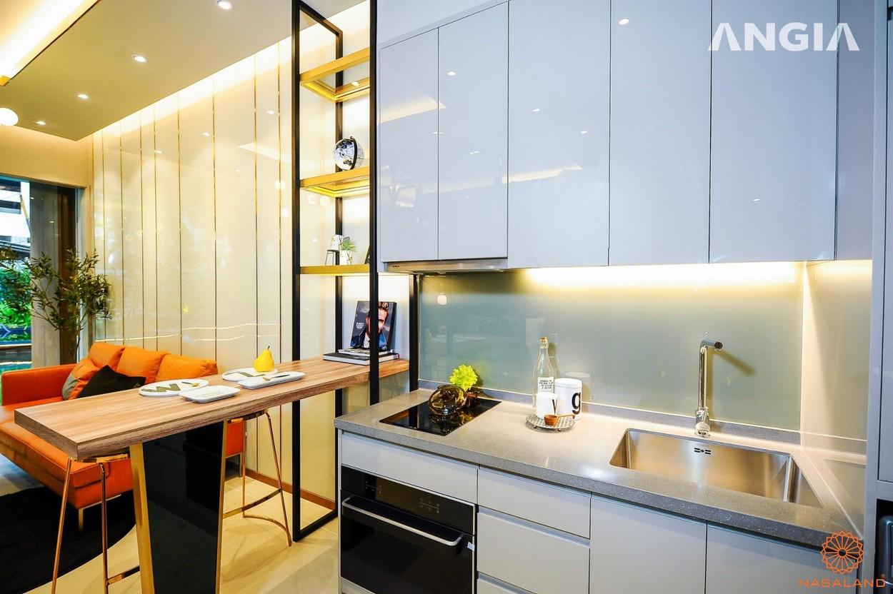 Nội thất phòng bếp và bàn ăn tại dự án căn hộ Smartel Signial