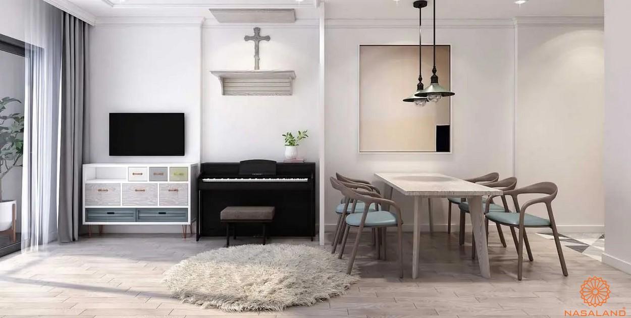 Nội thất phòng khách tiện nghi với thiết kế đơn giản tại căn hộ The Pegasuite 3