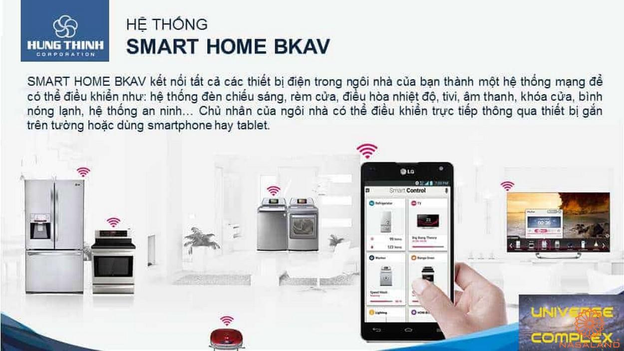 Nội thất dự án căn hộ Universe Complex Bình Tân - Smart Home BKAV