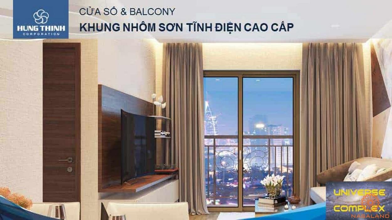 Nội thất dự án căn hộ Universe Complex Bình Tân - Ban công và cửa sổ