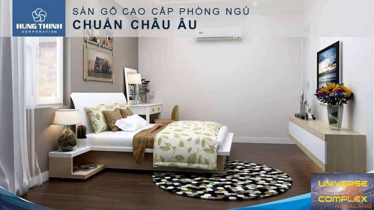 Nội thất dự án căn hộ Universe Complex Bình Tân - Sàn gỗ