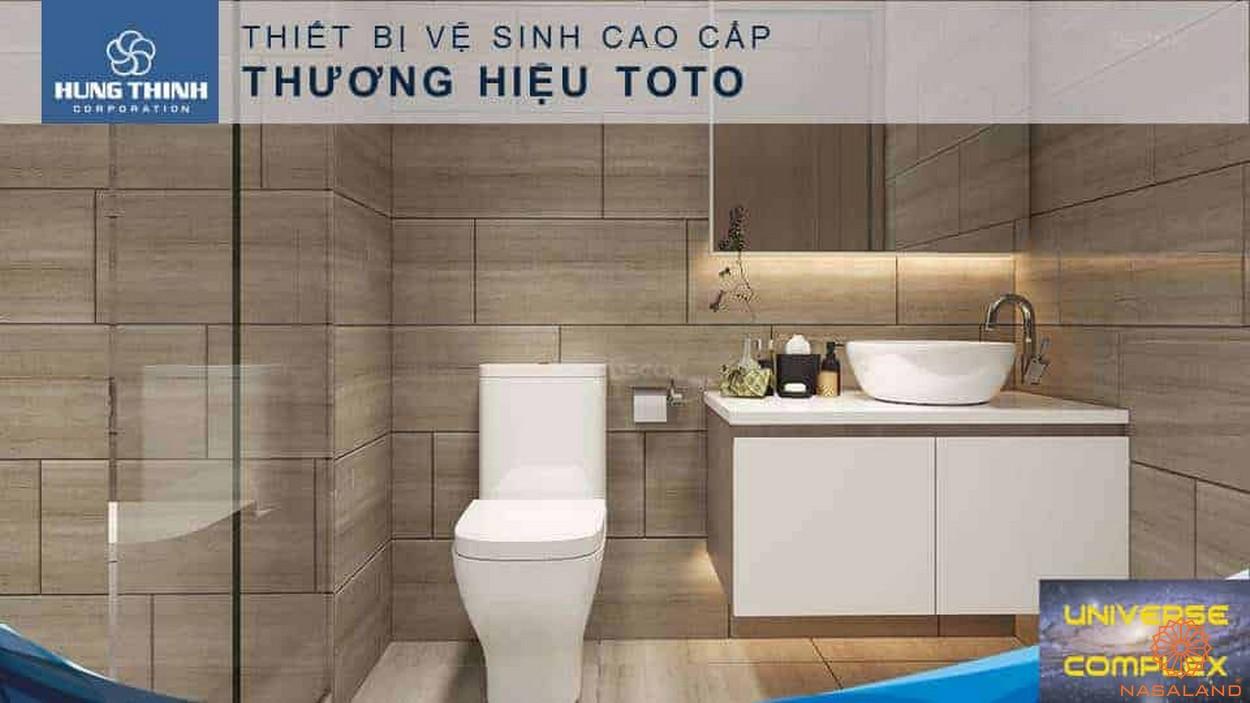 Nội thất dự án căn hộ Universe Complex Bình Tân - Thiết vệ sinh