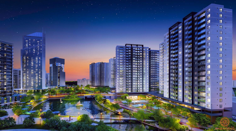 Phối cảnh tổng thể dự án căn hộ Mizuki Park Bình Chánh