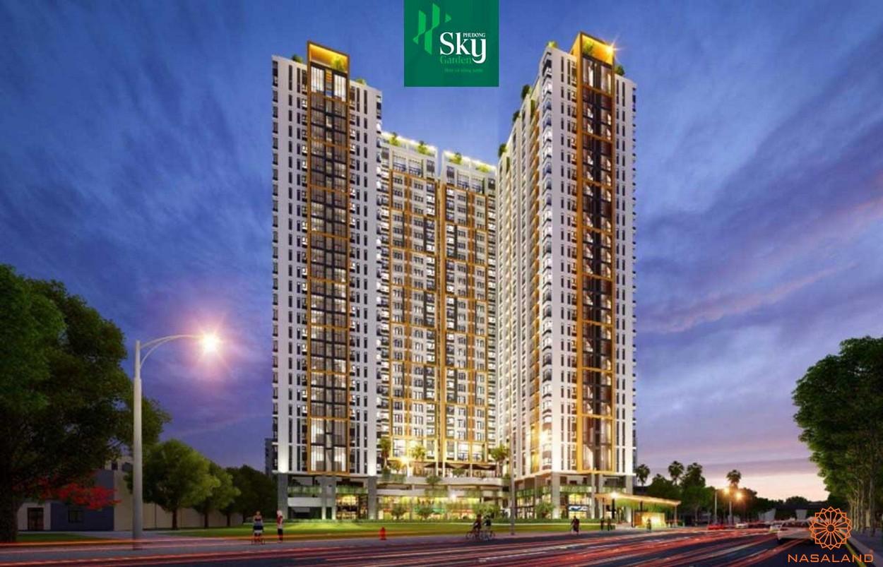 Phối cảnh dự án căn hộ Phú Đông Sky Garden Bình Dương