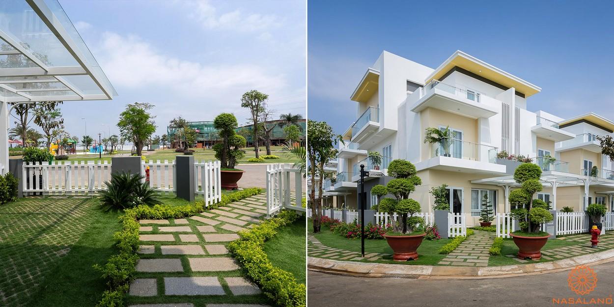Thiết kế mẫu của một căn nhà phố liền kề vườn