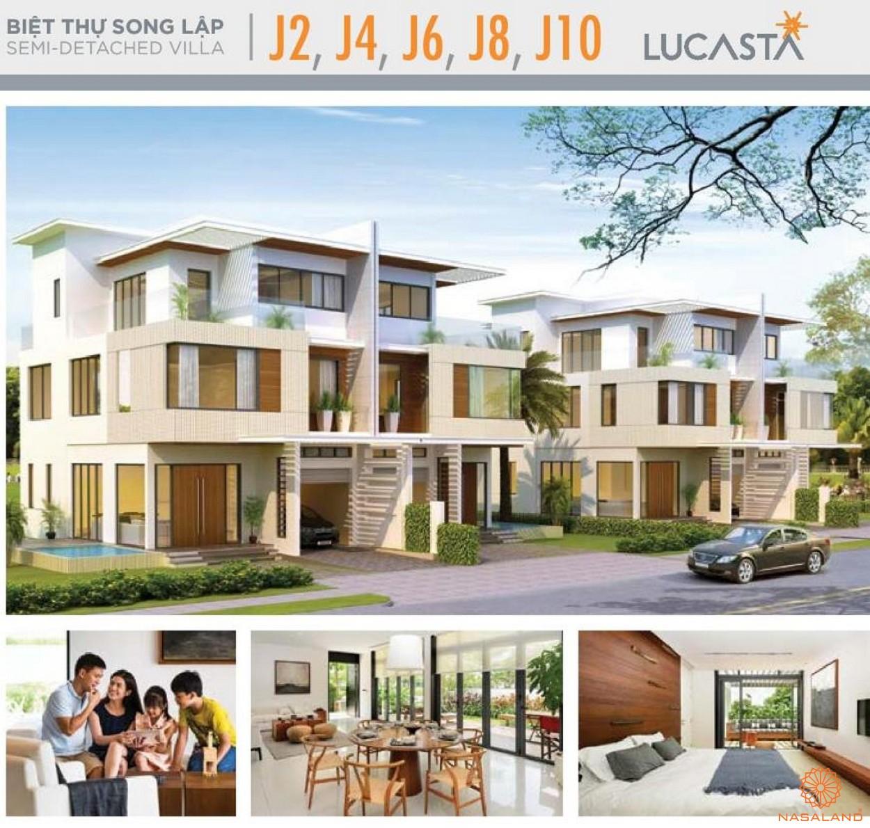 Nhà mẫu biệt thự song lập J2-4-6-8-10 tại dự án biệt thự Lucasta quận 9