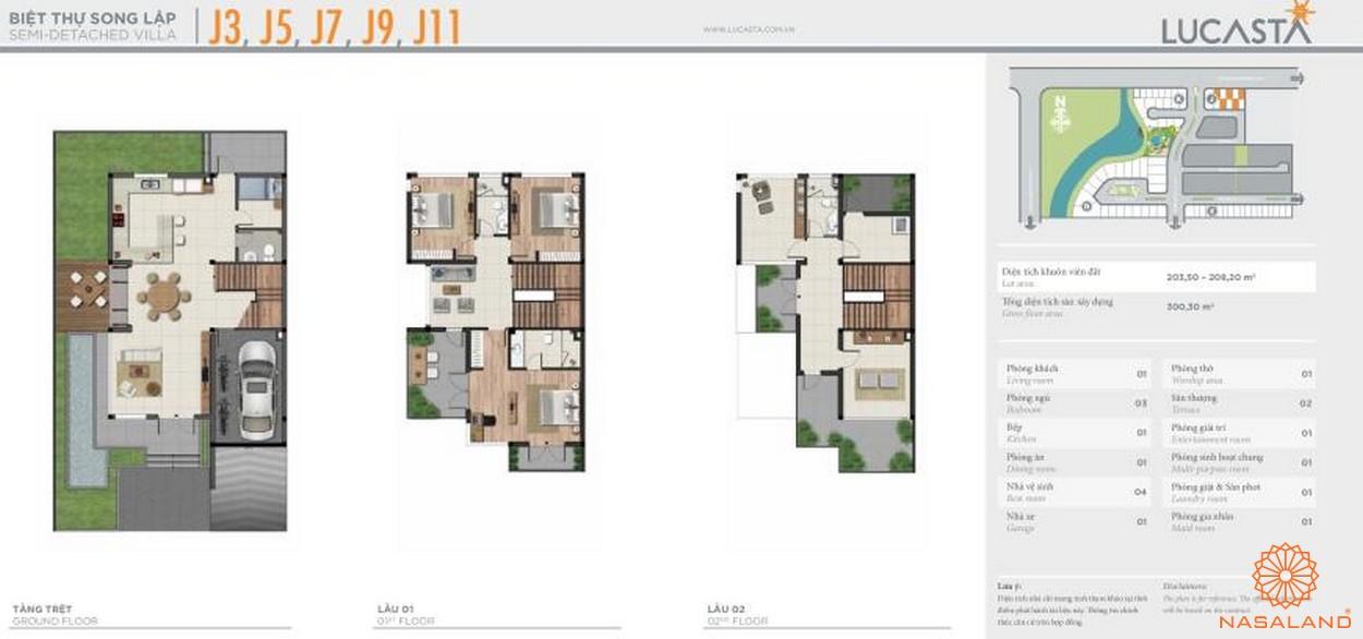 Thiết kế biệt thự liên kề J3-5-7-9-11