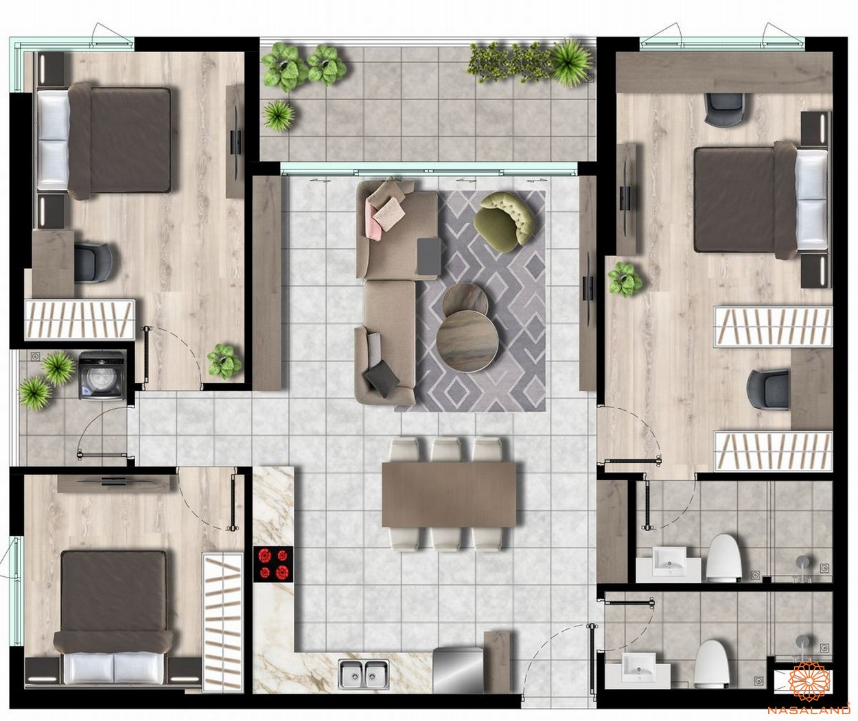 Thiết kế căn-hộ 3pn -2wc 113m2 West Gate