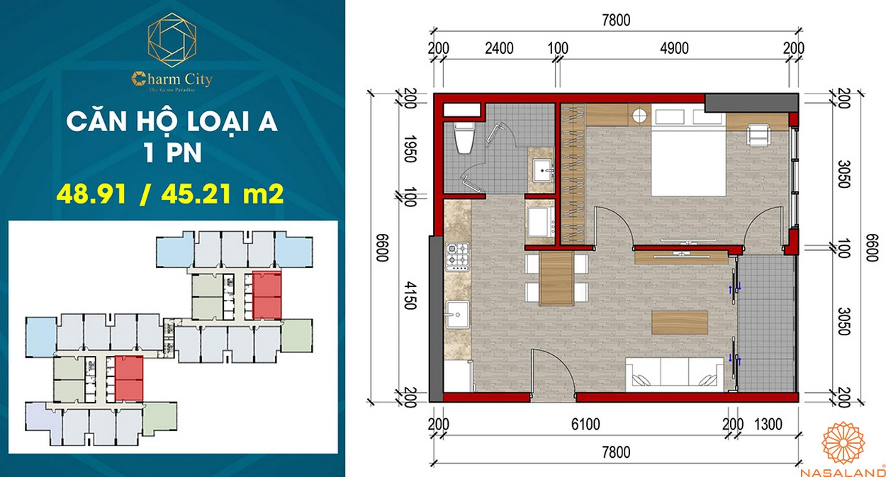 Thiết kế dự án căn hộ Charm City A