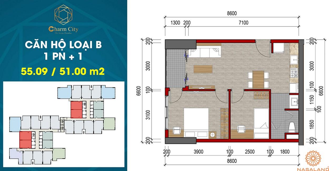 Thiết kế dự án căn hộ Charm City B