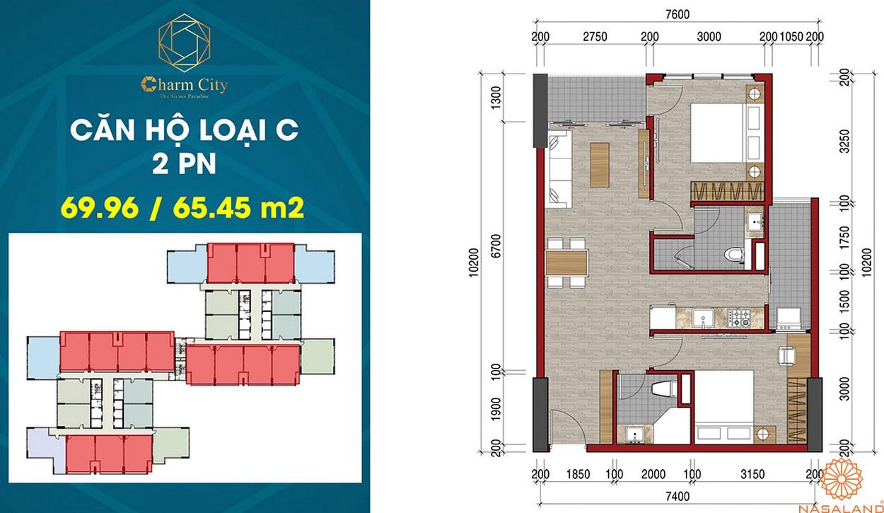 Thiết kế dự án căn hộ Charm City C