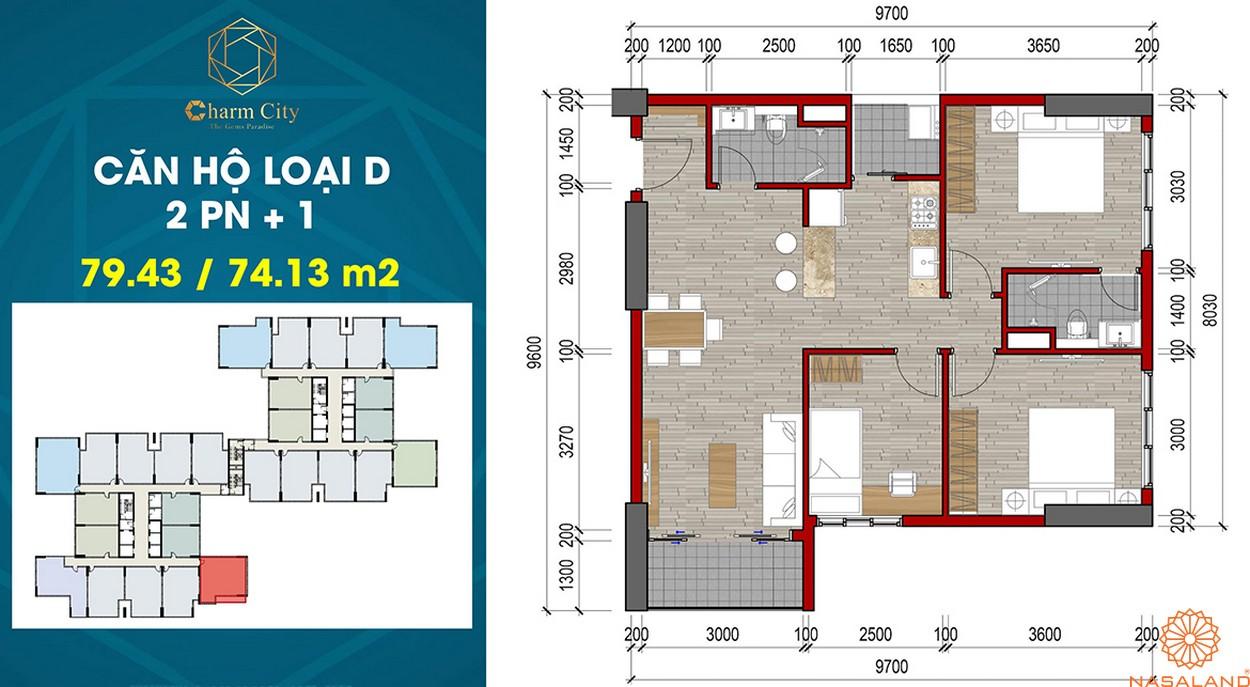 Thiết kế dự án căn hộ Charm City D