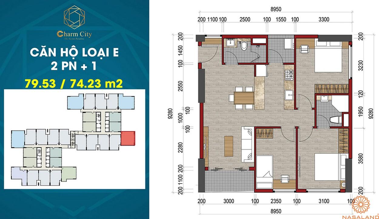Thiết kế dự án căn hộ Charm City E