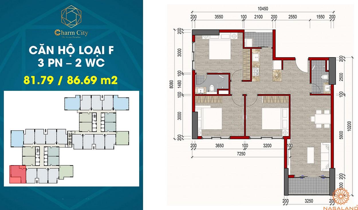 Thiết kế dự án căn hộ Charm City F