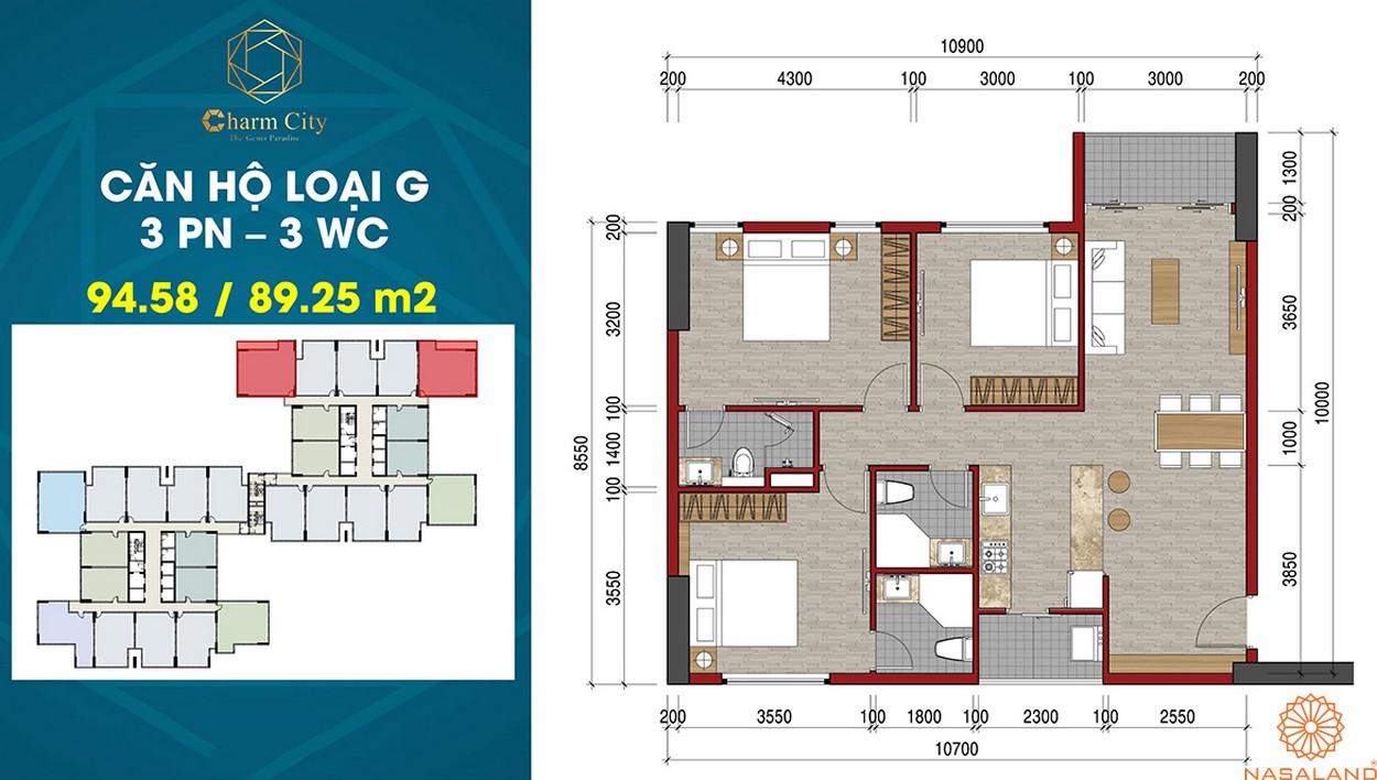 Thiết kế dự án căn hộ Charm City G