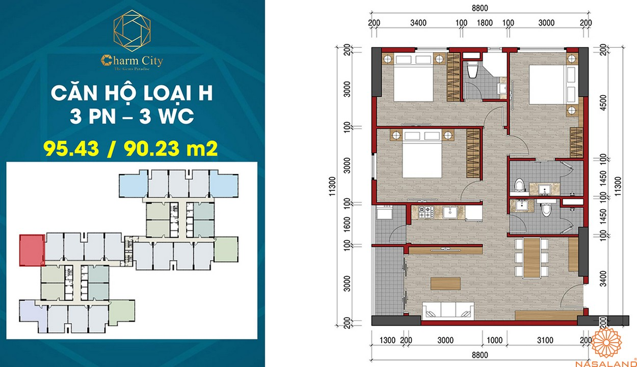 Thiết kế dự án căn hộ Charm City H