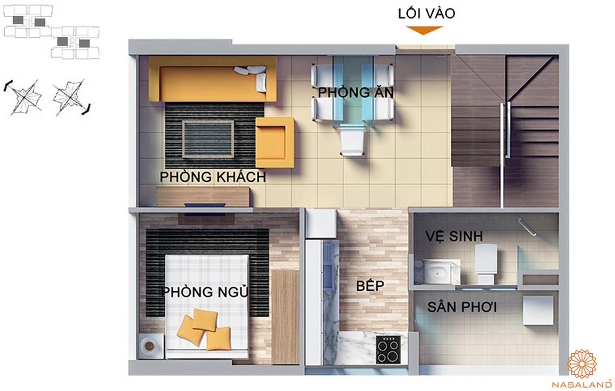 Thiết kế căn hộ 3 phòng ngủ tầng 24-25 Dragon Hill