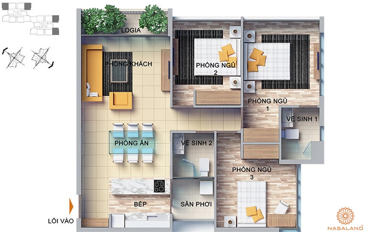thiết kế căn hộ tại dragon hill