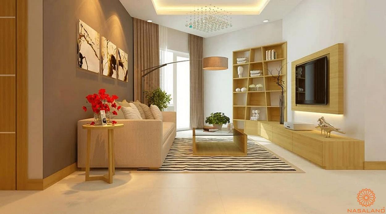 Thiết kế dự án căn hộ Florita quận 7 phòng khách