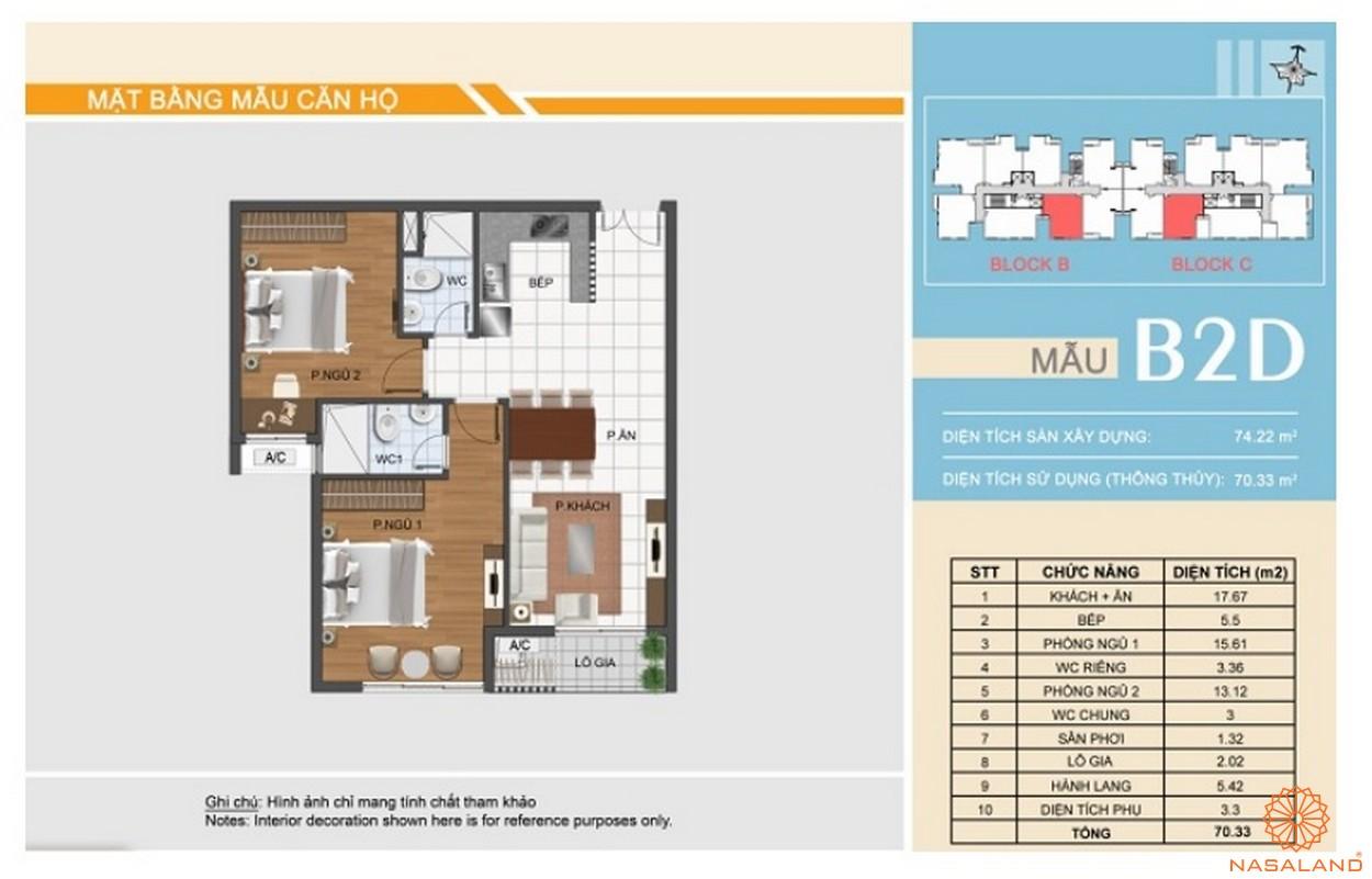 Thiết kế dự án căn hộ Hưng Phát Silver Star - Căn 2PN