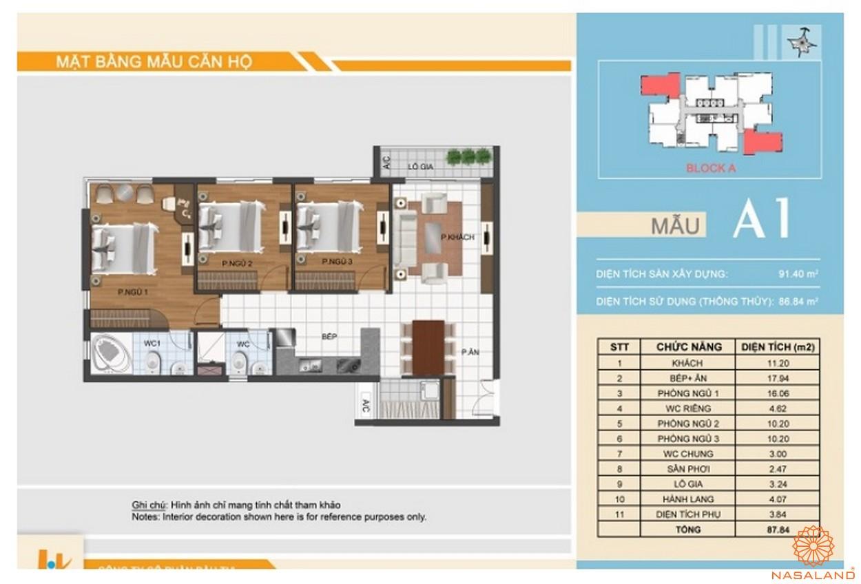 Thiết kế dự án căn hộ Hưng Phát Silver Star - Căn 3PN