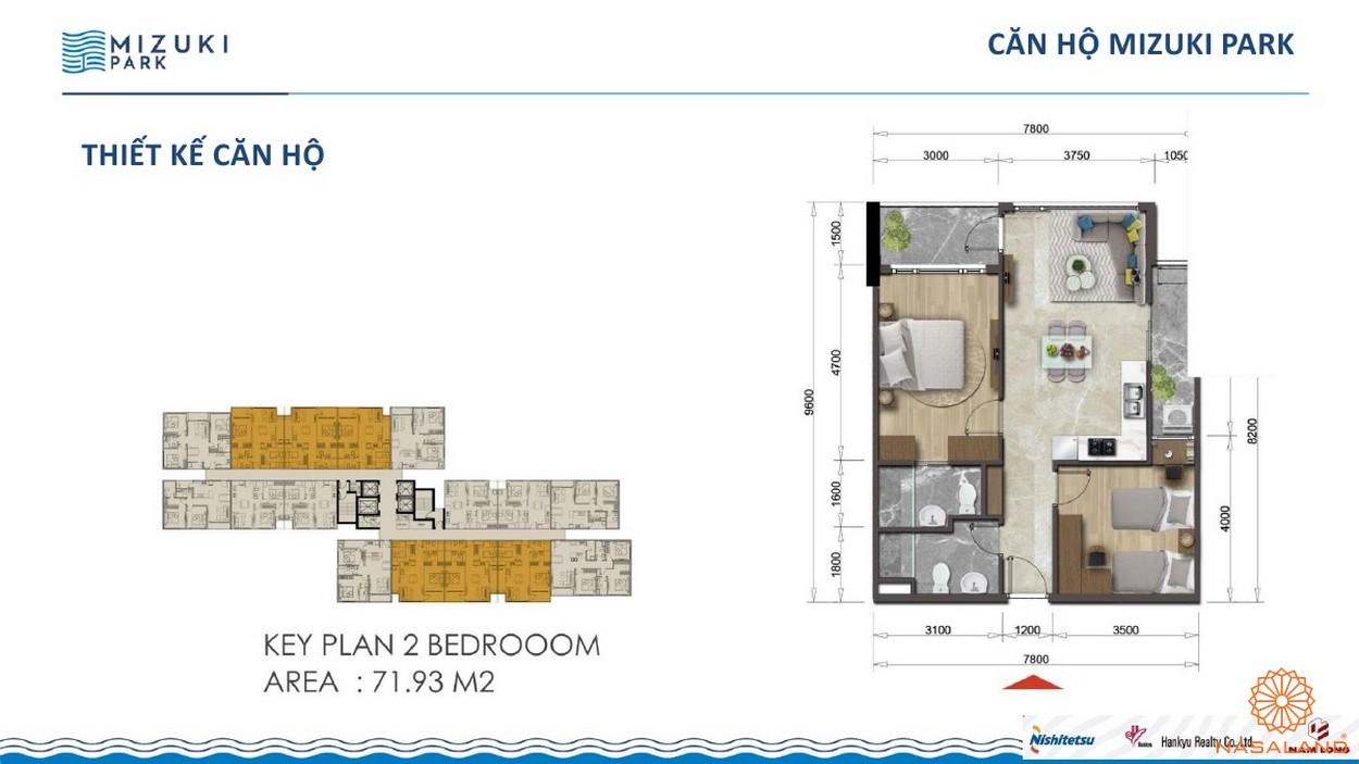 Thiết kế dự án căn hộ Mizuki Park Bình Chánh 2PN 71m