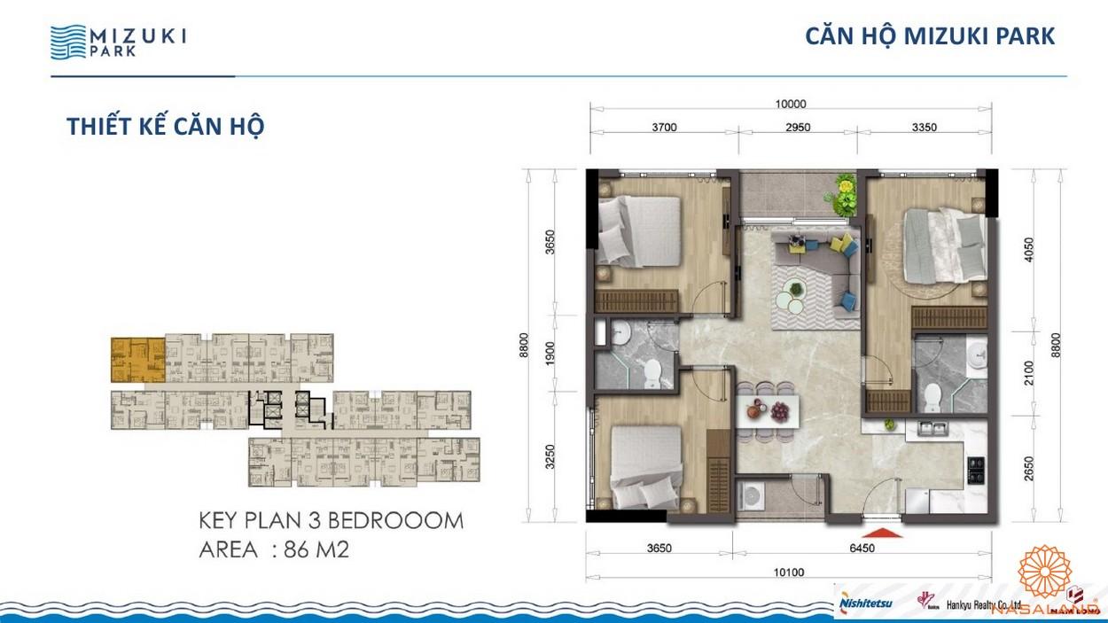 Thiết kế dự án căn hộ Mizuki Park Bình Chánh 2PN 86m