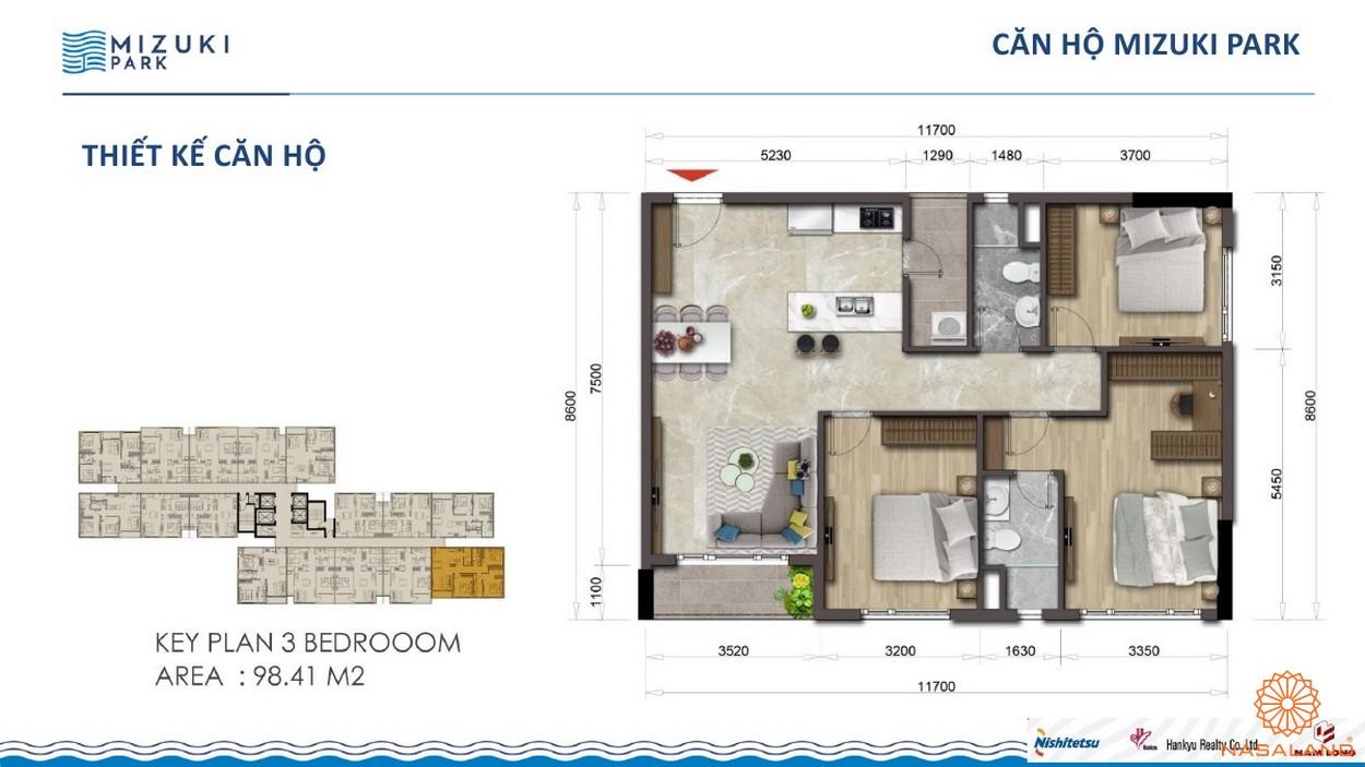 Thiết kế dự án căn hộ Mizuki Park Bình Chánh 2PN 98m