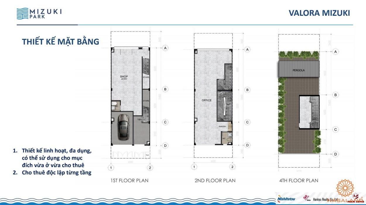 Thiết kế dự án căn hộ Mizuki Park Bình Chánh nhà phố thương mại