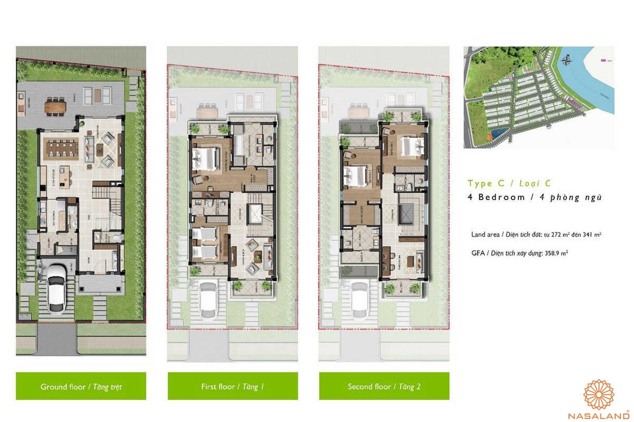 Nine South Estates Nhà Bè thiết kế loại C