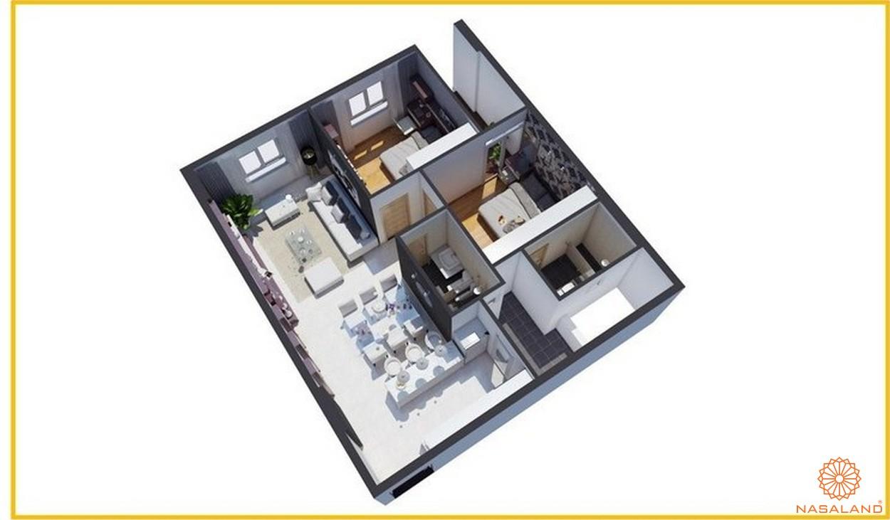 Thiết kết căn hộ Tara Residence loại B