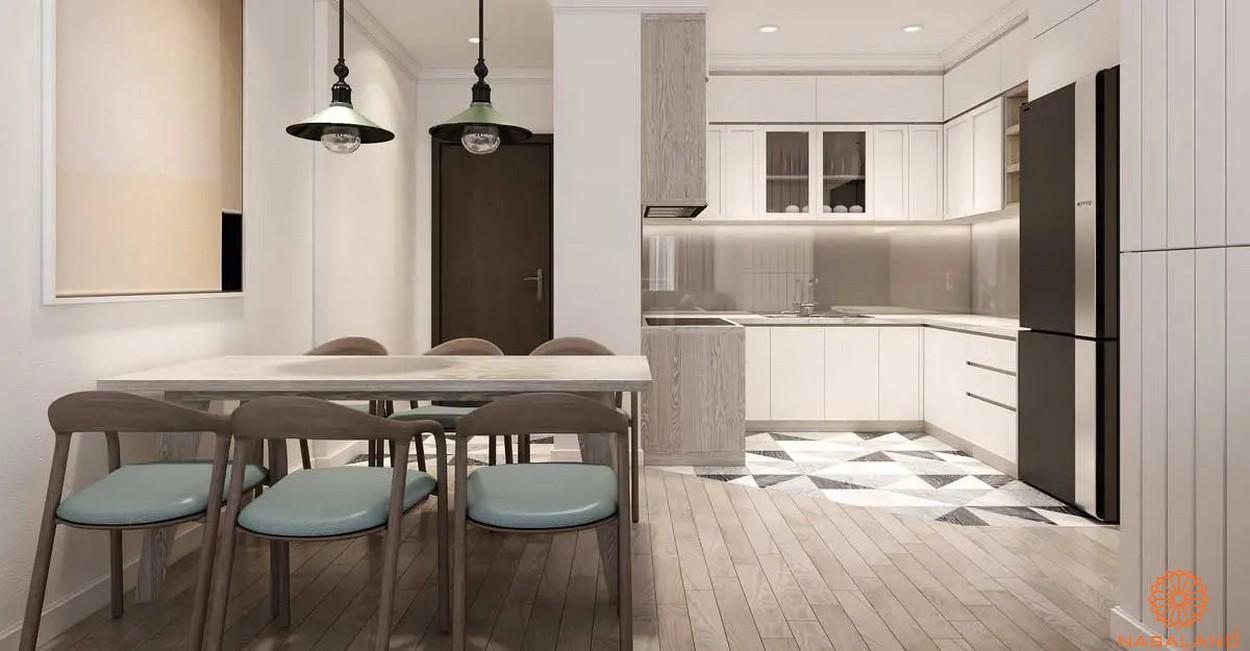 Thiết kế bàn ăn và phòng bếp sang trọng tiện nghi tại dự án