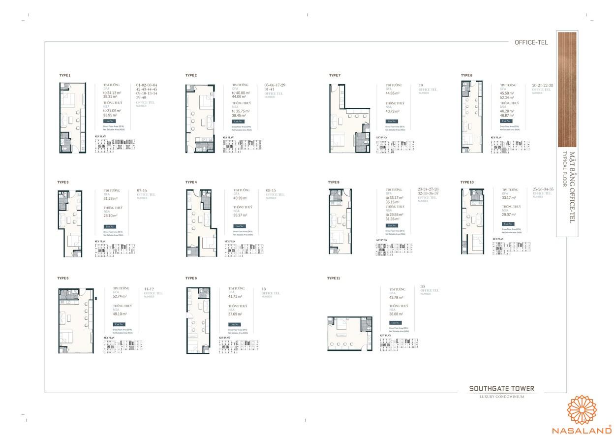 Thiết kế căn Oficcetel dự án căn hộ South Gate Tower quận 7