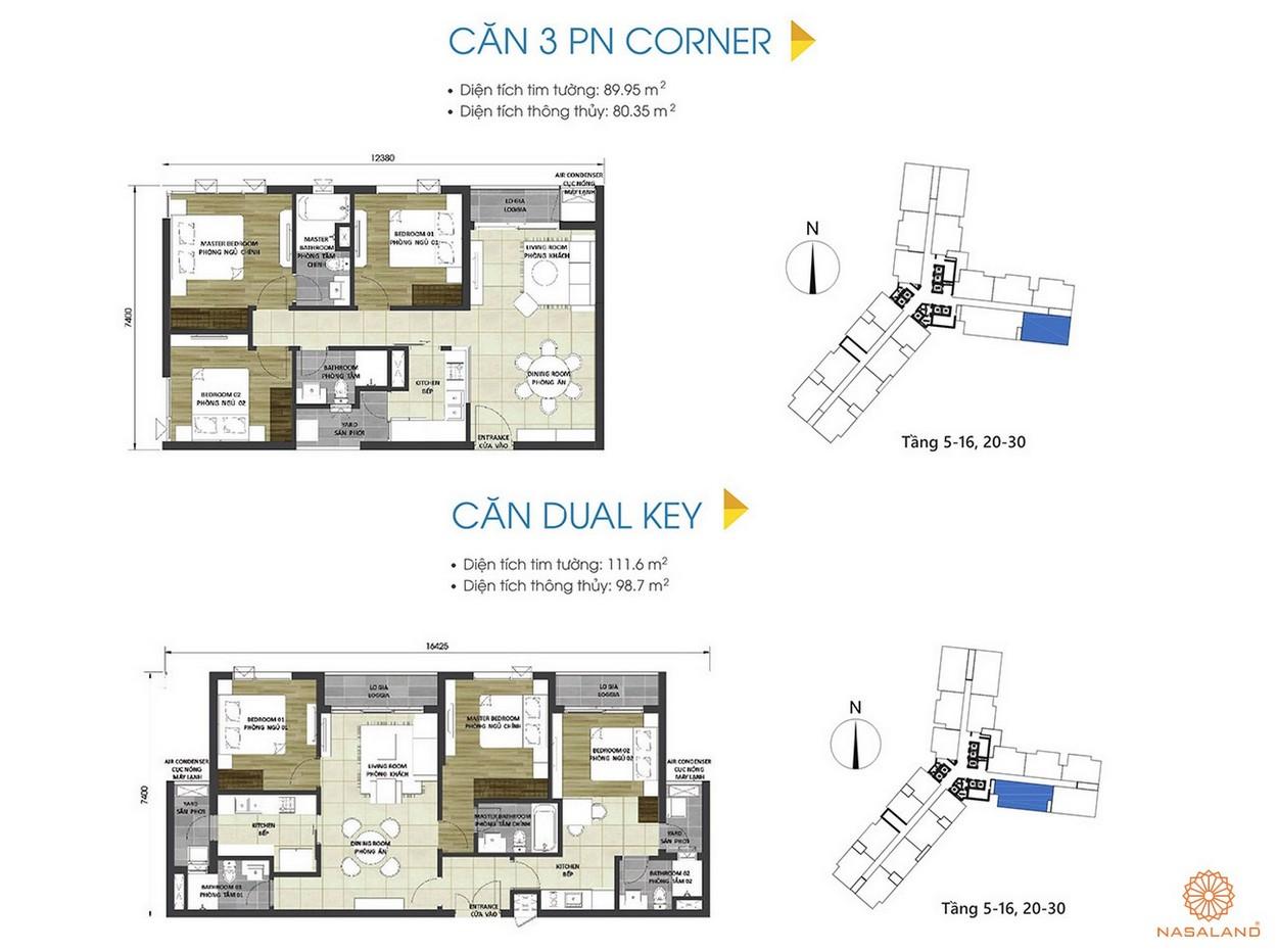 Thiết kế căn hộ 3PN và căn Dual Key tại dự án D Homme