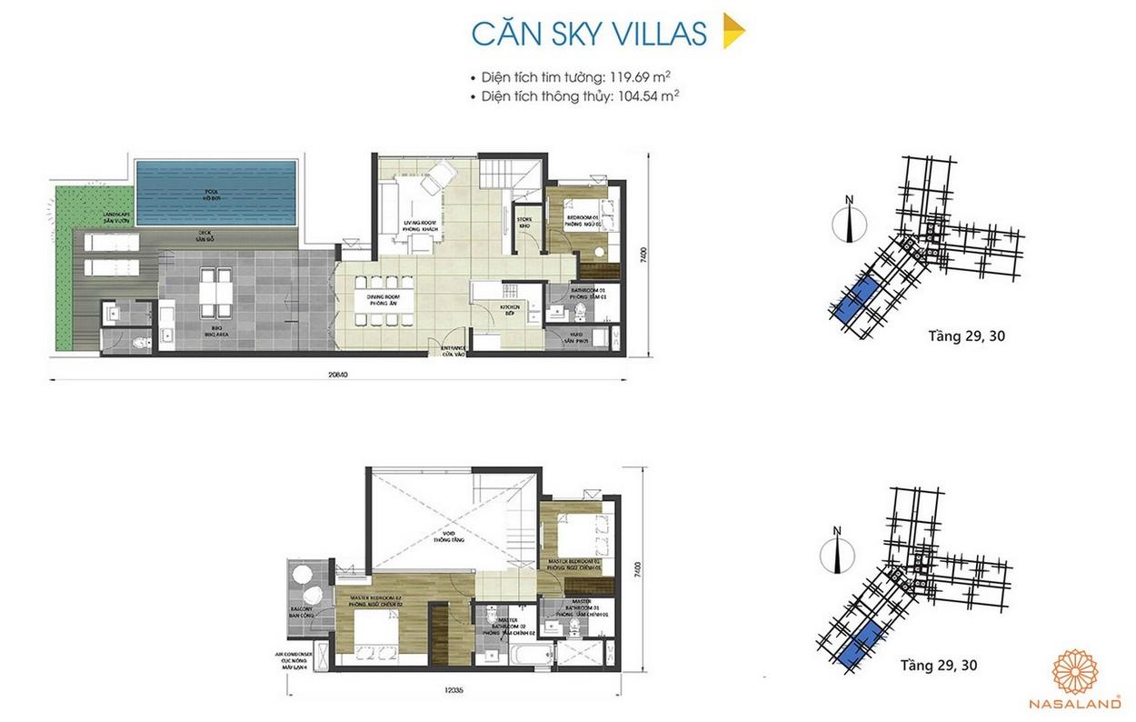 Thiết kế căn Sky Villas tại dự án D Homme
