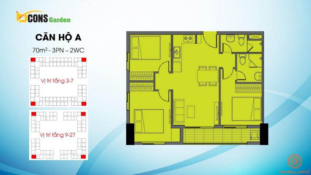 Thiết kế căn hộ chung cư Bcons Garden Bình Dương a