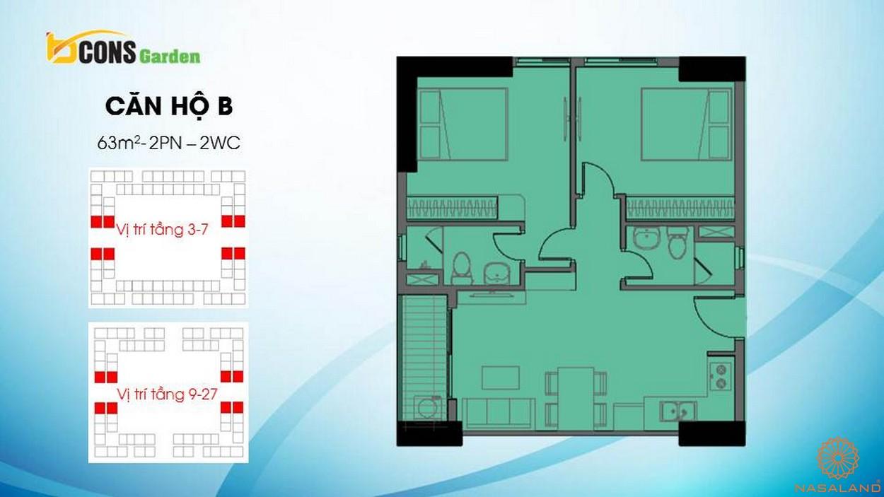 Thiết kế căn hộ chung cư Bcons Garden Bình Dương b