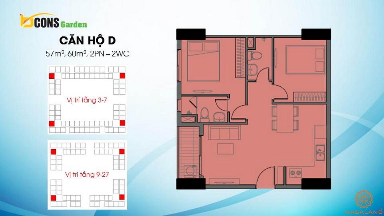 Thiết kế căn hộ chung cư Bcons Garden Bình Dương d