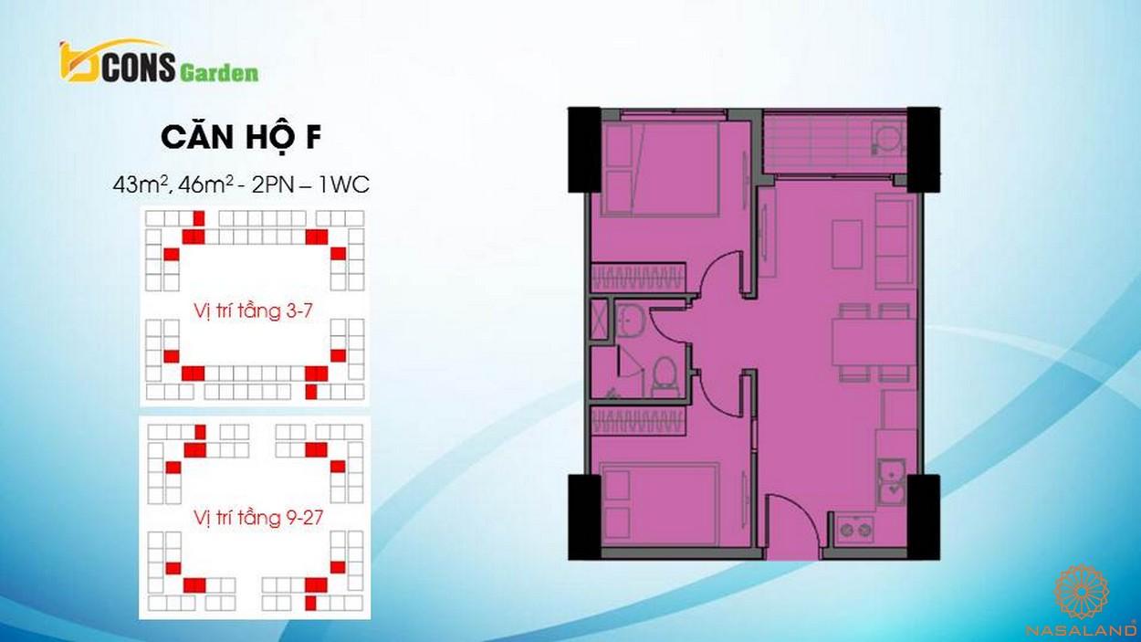 Thiết kế căn hộ chung cư Bcons Garden Bình Dương f
