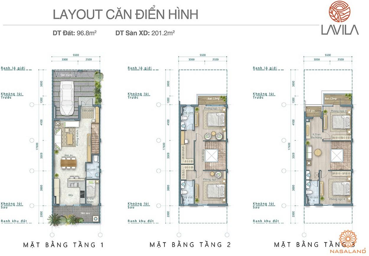 Thiết kế căn hộ điển hình dự án Lavila Nhà Bè